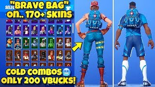 "NOUVEAU ""BRAVE BAG"" BACK BLING Showcased With 170 'SKINS! Fortnite Battle Royale (BEST BRAVE BAG COMBOS)"