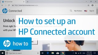 How To Set Up an HP Connected Account   HP Printers   HP
