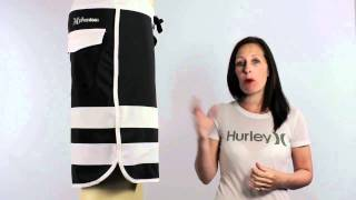 Hurley Phantom 60 Block Party boardshorts in black available at iboardshorts.com