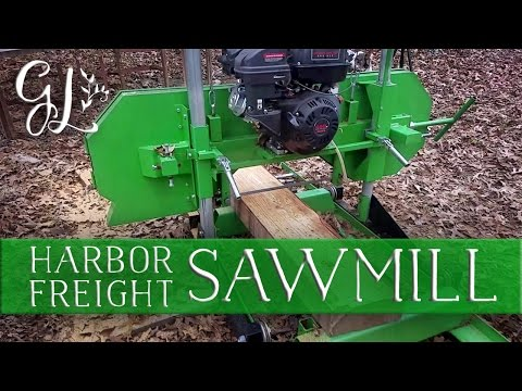 Using the Harbor Freight Sawmill to help neighbors with their rustic wedding.
