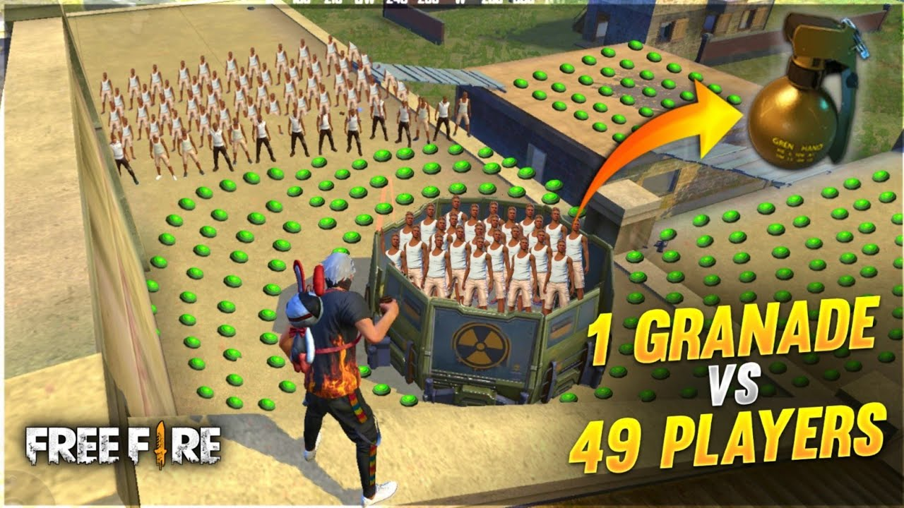 GRENADE VS 49 PLAYER | 😂GRENADE & LANDMINE VS 49 NOOBS WHO WILL WIN? | #ajjubhai #Totalgaming A_s