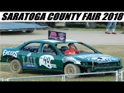 2018 Saratoga County Fair Demolition Derby 7-29-2018