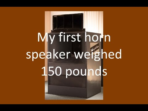 How I almost pushed a 150 pound speaker through a movie theater screen #hornspeakers