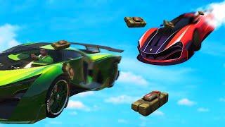 JELLY vs. 1000 STICKY BOMBS! (GTA 5 Funny Moments)