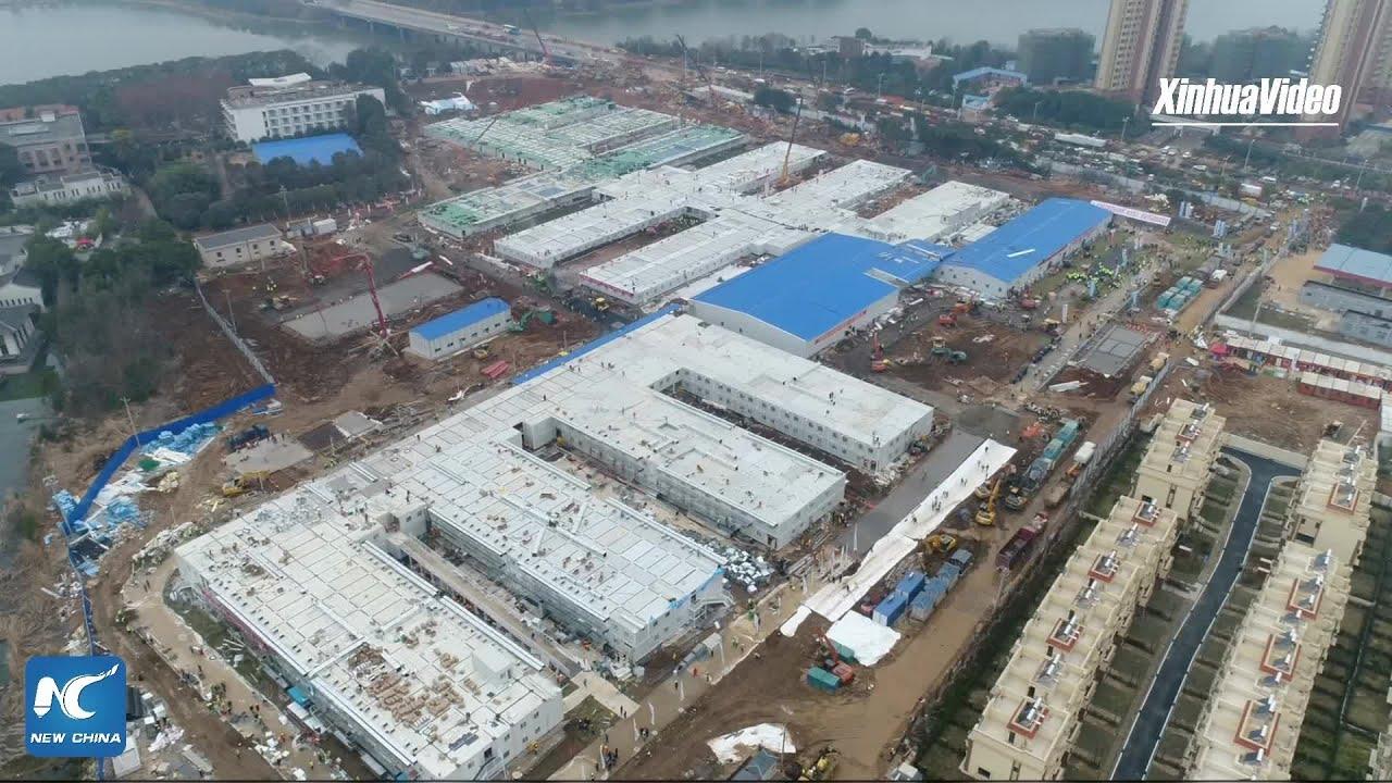 China builds new hospital in 10 days to combat coronavirus - YouTube