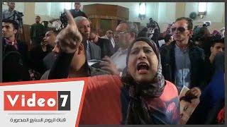 أنصار مبارك يسبون المطالبين بالحق المدنى لشهداء ثورة يناير فى محكمة النقض