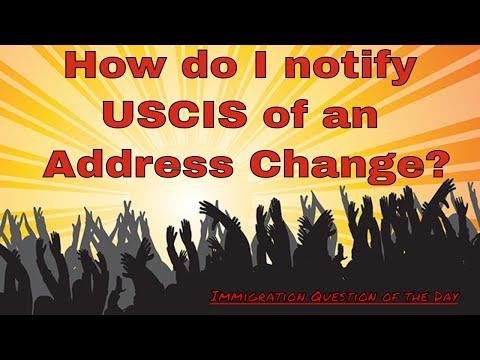 How do I notify USCIS of an Address Change?