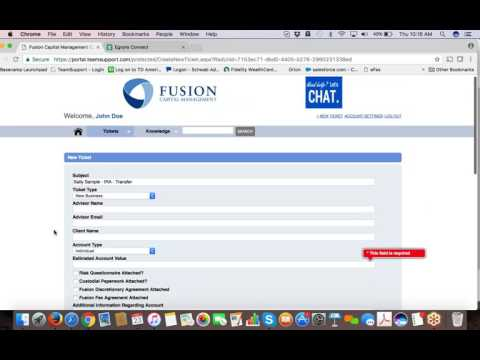 IAMS Wealth Management Service Portal Demo
