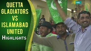 PSL 2017 Match 17: Quetta Gladiators vs Islamabad United Highlights