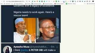 BREAKING NEWS: ATIKU PICKS PETER OBI FOR 2019  BUT ...