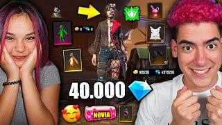 LE REGALO 40 MIL DIAMANTES A MI NOVIA Y LE COMPRO TODA LA TIENDA DE FREE FIRE | TheDonato y Barbie