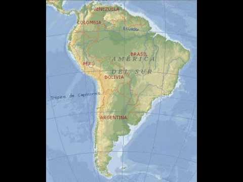 sudamerica  mapa de america del sur  YouTube