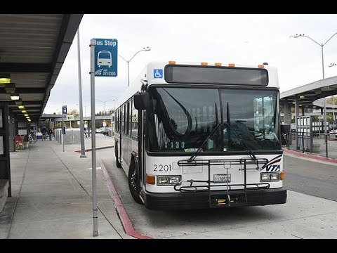 Short Ride on VTA 2201 from Civic Center LR Station to Fremont BART