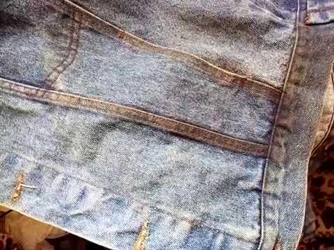 Удаление масляного пятна с джинсовой ткани