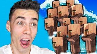 Zalało mnie TSUNAMI WIEŚNIAKÓW w Minecraft!