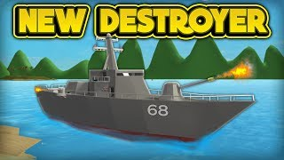 DRIVING THE NEW DESTROYER! (ROBLOX Sharkbite)