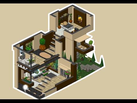Habbo apartamento de lujo 3 pisos youtube for Casas en habbo