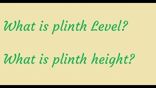 What is Plinth Level and Plinth Height? Interview Question #8|