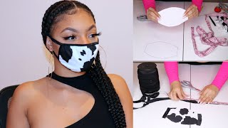 DIY FACE MASK 2 STYLES    Make Easy Fabric FACE MASKS in LESS THAN 10 MINUTES! REUSABLE FACE MASK