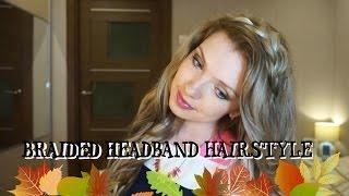 Распущенные волосы с ободком из косы ★ Braided Headband Hairstyle