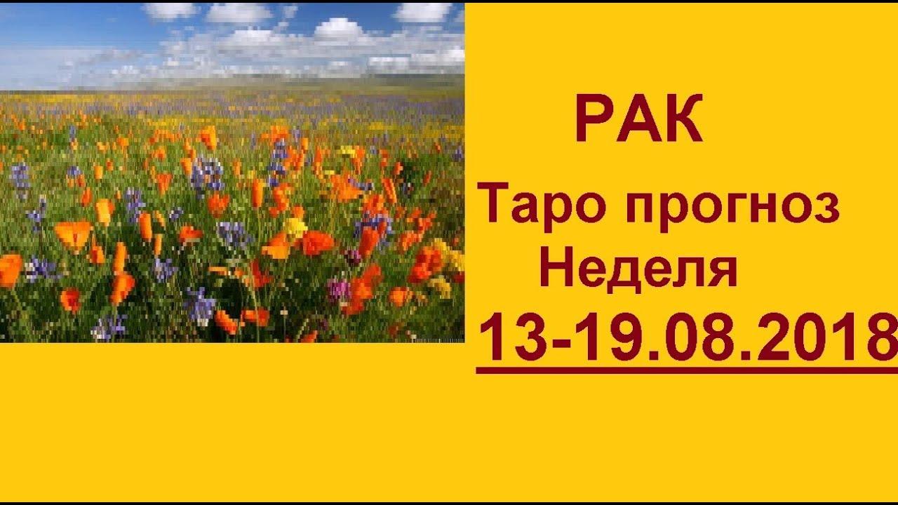 РАК. Таро прогноз 13-19 августа 2018 + совет оракула. Гадание на картах Таро