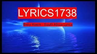 Baby Keem - South Africa Lyrics