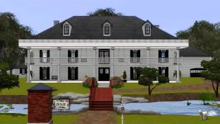 Sims 3: Plantation With Pond