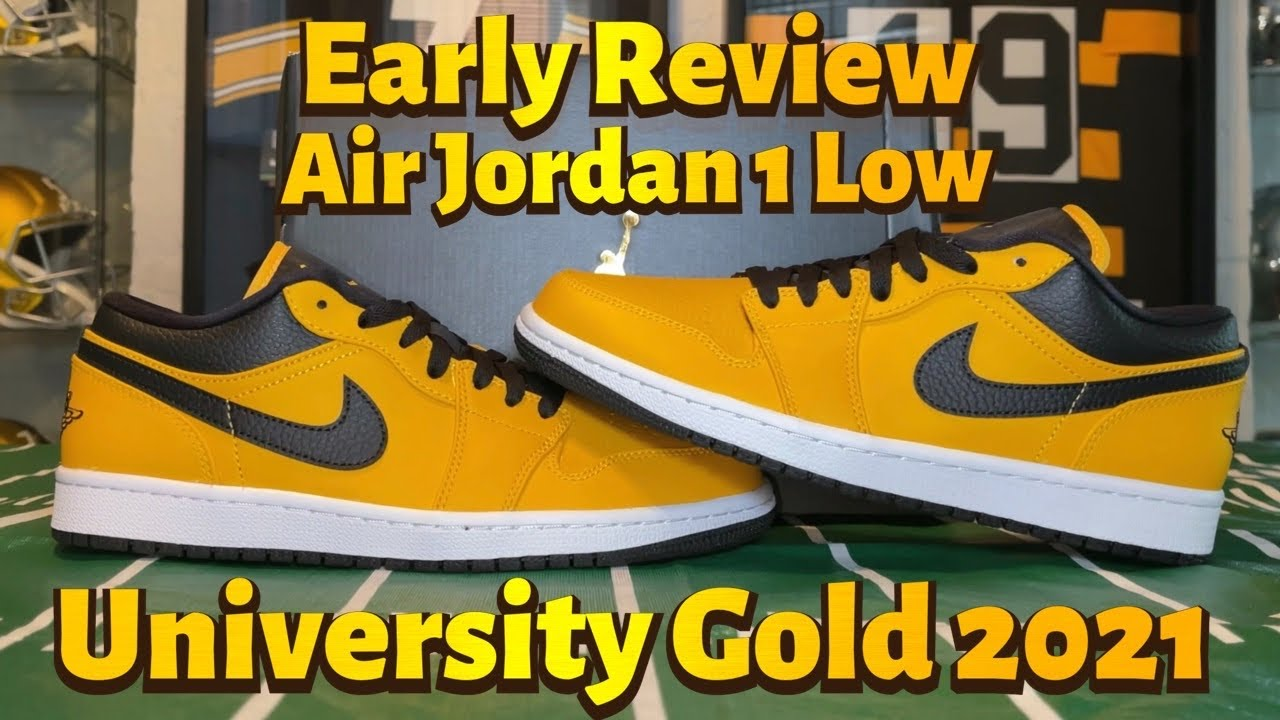 Early Review: Air Jordan 1 Low University Gold 2021 Unboxing, Review On Feet