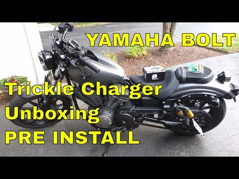 Yamaha Star Bolt Battery Trickle Charger Unboxing Pre Install