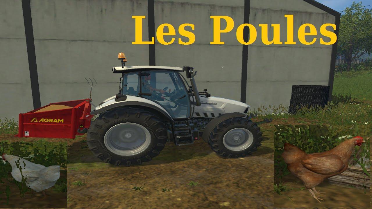 les poules sur farming simulator 205 youtube