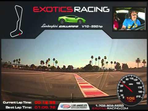Phil Hill driving Lamborghini Gallardo lp550 2 at Exotics Racing Los Angeles