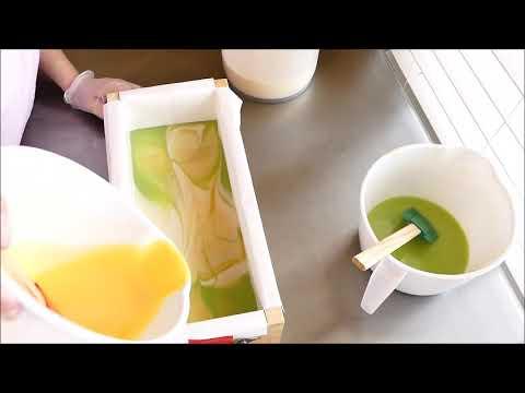 Making and Cutting Lemongrass & Green Tea Cold Process Soap