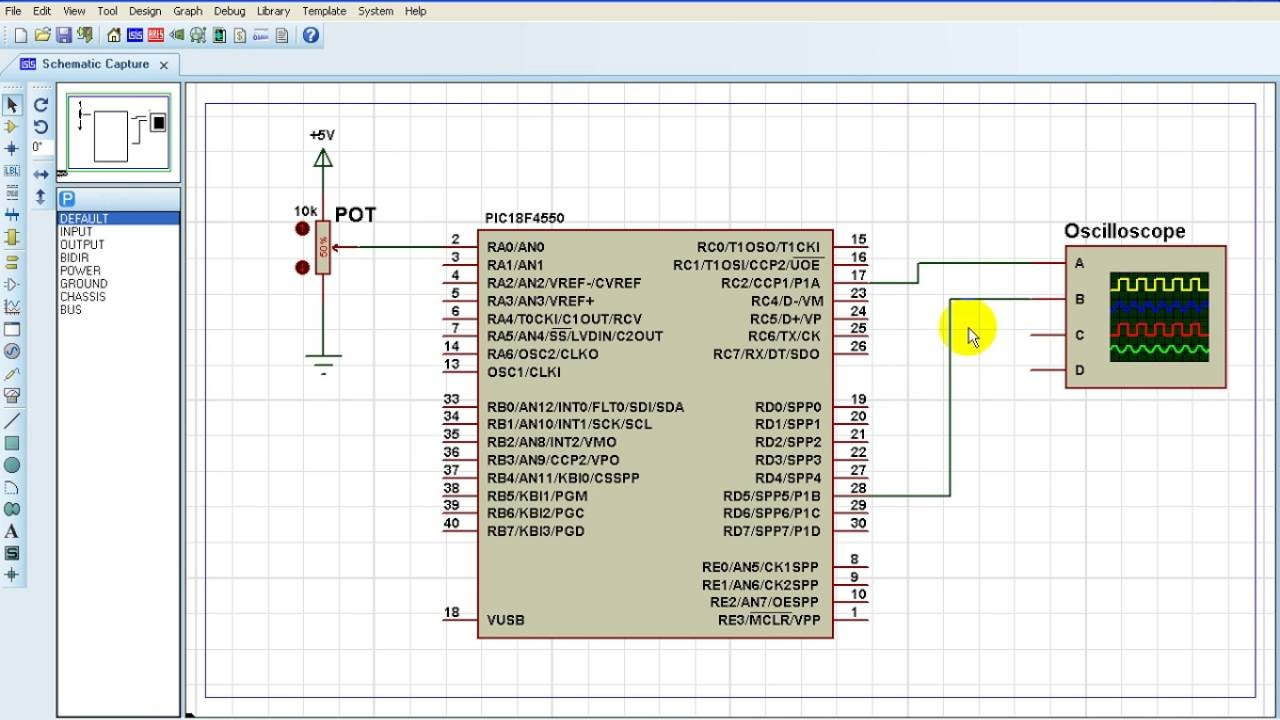 PIC18F4550 ECCP PWM half bridge mode example with CCS PIC C
