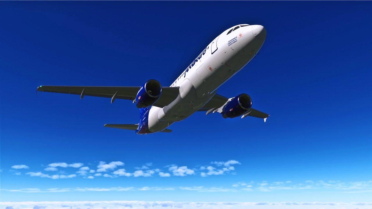 X Plane 11   Flight Factor A320   New Bss Sound Pack  Laniairbusflyer 29:54  HD