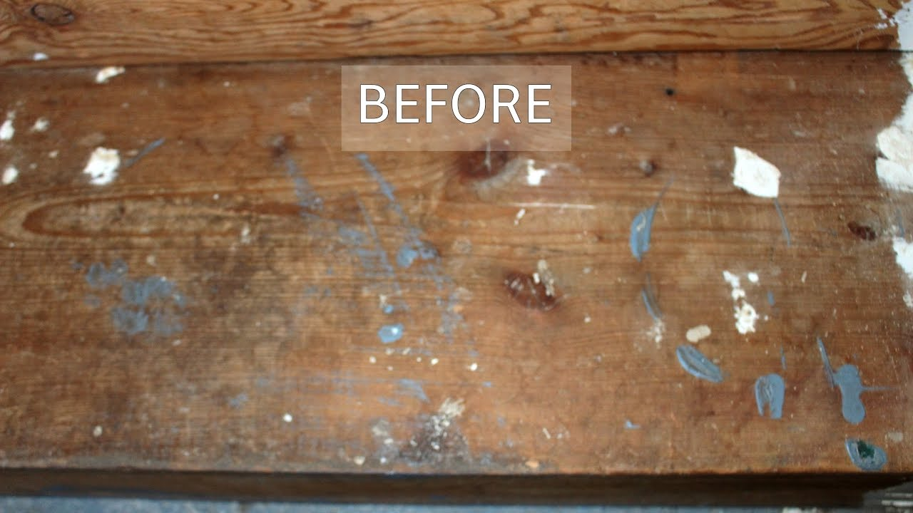 Stripping Old Varnish Paint Mess From Wood