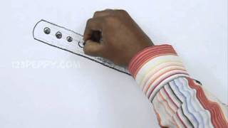 How to Draw a Bamboo Flute