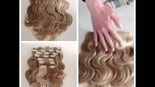 E-forest Top grade #8/#613 clip -in hair extensions