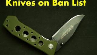 Knives Illegal by Customs & Border Patrol Office