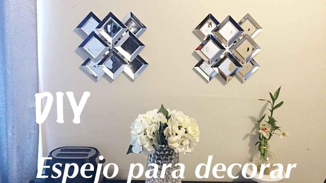 Diy espejo para decorar idea para decorar dollar tree for Espejos circulares para decorar