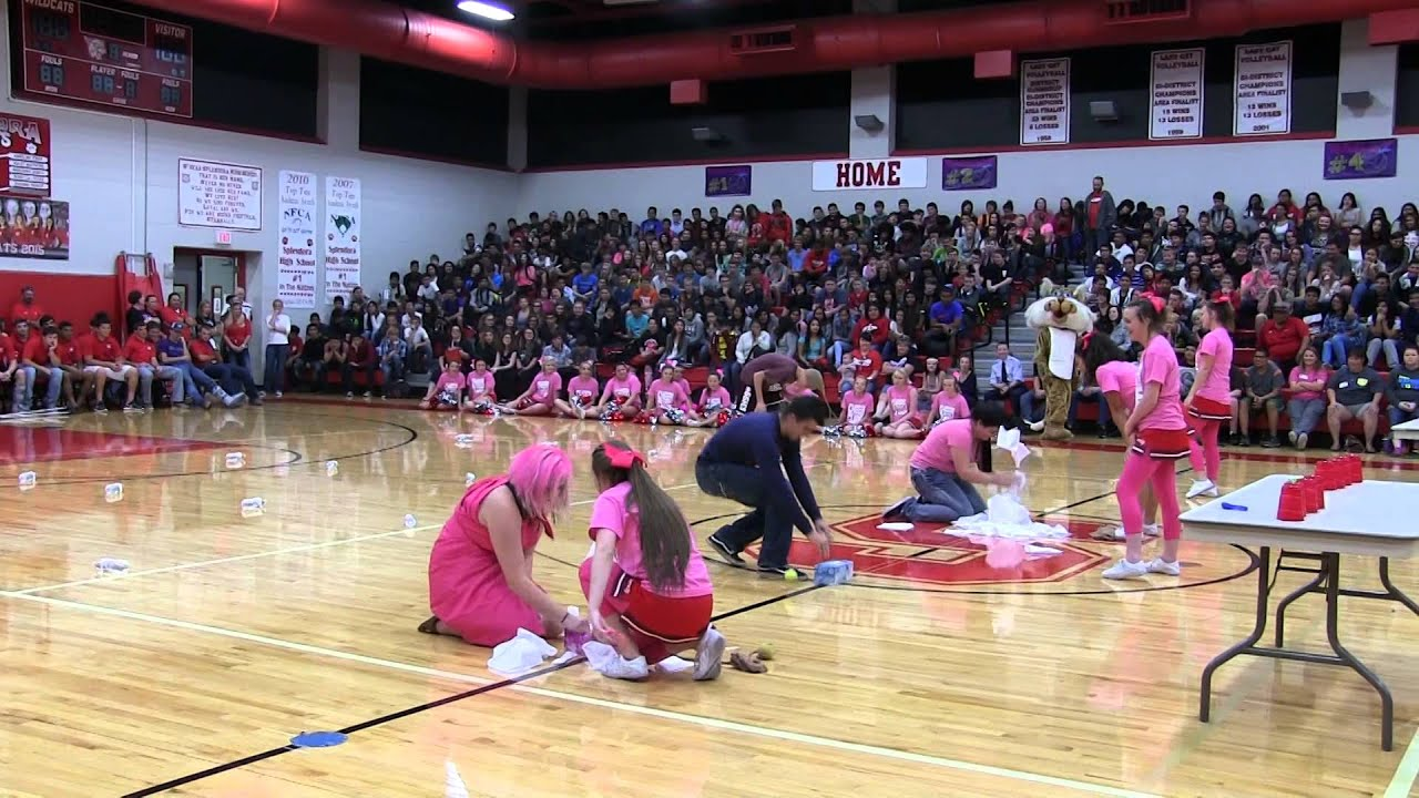 Pink Pep Rally Minute To Win It Competition Youtube Pep Rally Games Pep Rally Pep Assembly