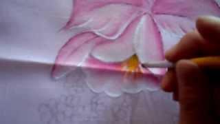 Cojín de Orquídeas con pintura textil (Parte 2/4)
