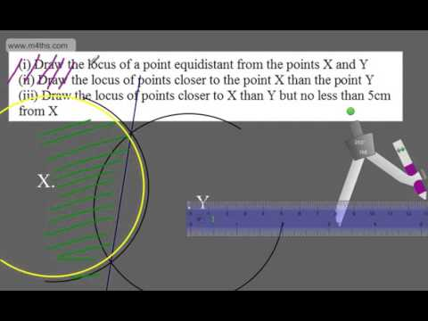 GCSE Maths (9-1)  Loci and Locus HIgher and Foundation Maths
