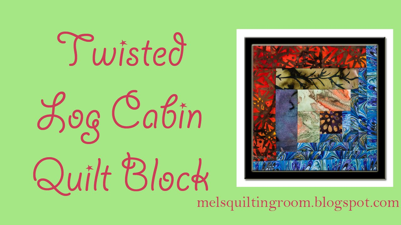 Twisted Log Cabin Quilt Block - YouTube : twisted log cabin quilt - Adamdwight.com