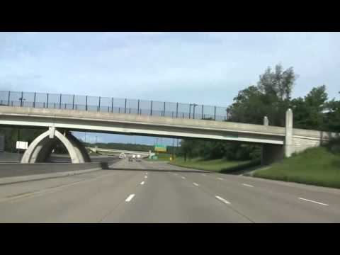 Driving through Peoria, Illinois on Interstate 74
