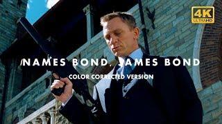 Names Bond, James Bond   Color Corrected Demo Reel   Casino Royale scene (007) 4K
