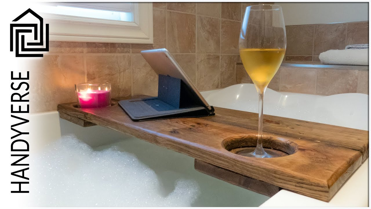 Up Your Relaxation Game With This Simple, Pallet Board Bath Caddy ...
