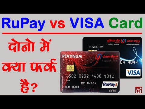 Difference Between RuPay and Visa Debit Card in Hindi   By Ishan
