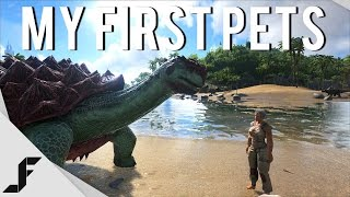 My First Pets! - Ark Survival Evolved Gameplay Episode 4