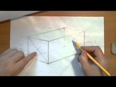 Как рисовать лежащий цилиндр