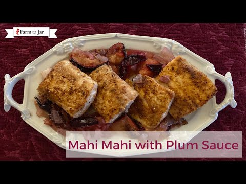 Pan Fried Fish with Plum Sauce - Pesco Mediterranean Diet